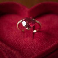 Bague Saint Valentin Coeur 2 Mini Rosa